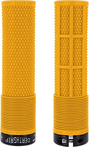 Dmr Deathgrip MTB Mountain Bike Cycle handle bar grips - Thick Flangeless Gul Yellow