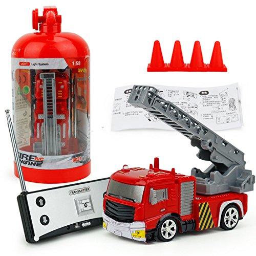 RC Auto kaufen Feuerwehr Bild 4: RC Feuerwehrfahrzeug, Vicoki Ferngesteuert Mini Ferngesteuertes Fahrzeug Feuerwehr Auto Spielzeug*