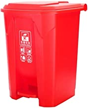 AINIYF Scaled Outdoor Trash can with lid, Pedal Street Trash Container Type, Kitchen Container Trash Container Trash (Colo...