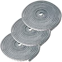 Sumnacon 3 Pcs Weatherstrip for Window,Door, Wardrobe,Car, Perfect to Windproof Shelter from The Wind, Dustproof, Soundproof Sound Deadener, 16 ft Long (11/32x11/32 inch,Grey)