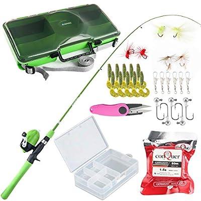 Amazon - Save 50%: BLISSWILL Kids Fishing Pole Tackle Box Fishing Rod Kit Telescopic Fishing Rod an…