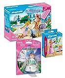 Geobra Brandstätter Playmobil 70293 Princess - Set de regalo de princesa + 70247 Princesas en el estanque de cisne + 70564 Princesa con conejito