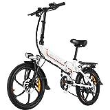 ANCHEER Folding Electric Bike Ebike, 20'' Electric...