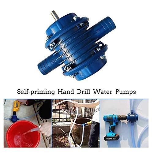 iMiMi Hand Boor Water Pomp Draagbare Hand Boor Waterpompen Zelfpriming Transfer Pomp Centrifugale Pomp Verbinden Gepijpt voor Thuis Keuken Auto Reiniging Etc