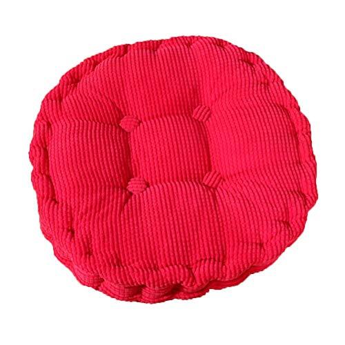 Demarkt Tatami Round Cotton Chair Cushion 40 cm, red, 40 * 40cm