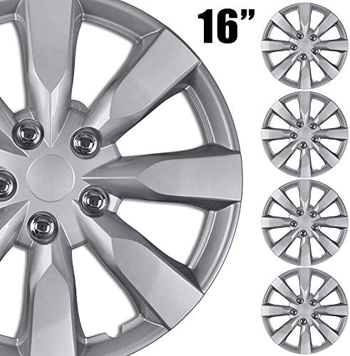 BDK 4 Pack Premium 16 Wheel Rim Cover Hubcaps OEM Style Replacement Snap On Car Truck SUV Hub product image