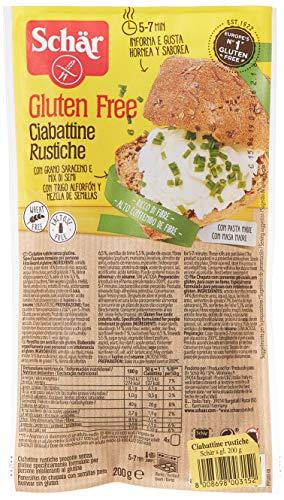 Dr.Schär Ciabattine Rustiche - confezione da 6 x 200 g