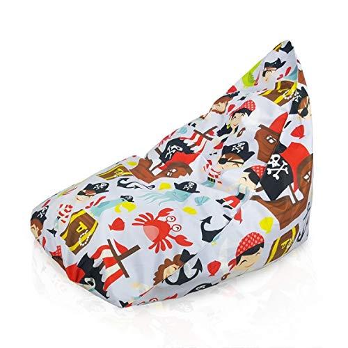 Italpouf Sitzsack Riesensitzsack XL Piraten 90 x 115 x 80 cm 330l Füllung Indoor Beanbag