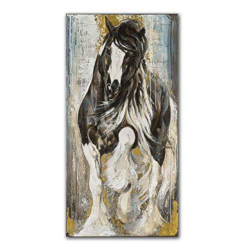 Moderne Pferd Leinwand Malerei Tier Wandbild Pop Poster Malerei Wohnzimmer dekorative Malerei rahmenlos GL1305 30x60cm
