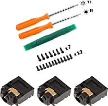 Onyehn 3-Pack Replacement Headphone Jack Plug Port 3.5mm Headset Connector Port Socket for Xbox ONE Wireless Controller Repair Part + T6 T8 Screwdrivers and Screws