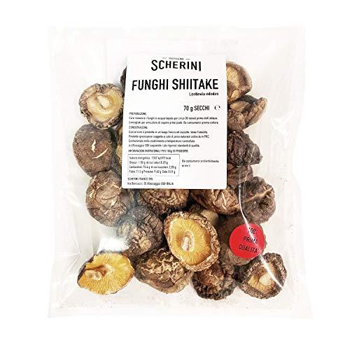Scherini Valtellina - Funghi Shiitake secchi 45-75mm, 70g