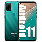 Ulefone Note 11P Unlocked Cell Phone New Android 11 P60 Octa core 8GB+128GB Mobile Phone, 48MP Four Rear Camera + 8MP Front Camera, 6.55' HD+ Screen 4400mAh Battery Dual SIM 4G Unlocked Android Phone