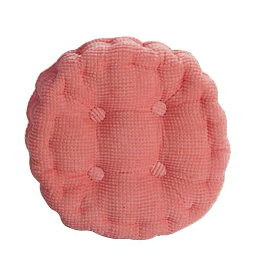 Nunubee Coussins de Chaise en Velours Côtelé Coussins en Coton et Housses pour Chaises Hautes, Rose