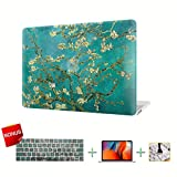 MacBook Case Laptop Case Flower Hard Shell Cover, Keyboard Cover, Screen Protector for MacBook Pro 15 Inch Case 2018 2017 2016 Release A1990/A1707 Touch Bar Models (Flower 7)