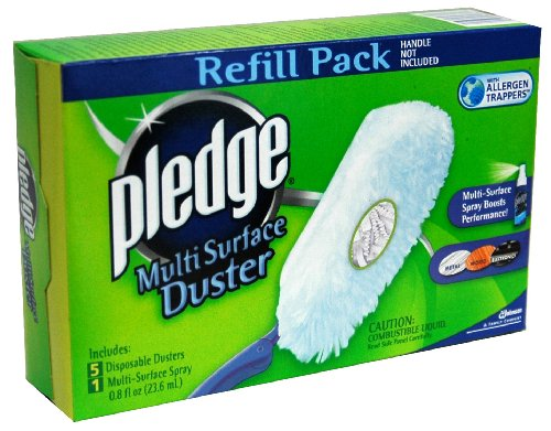 SC Johnson Pledge Multi Surface Duster Refill: 5 Disposable Dusters and 1 Multi-Surface Spray (#34336)