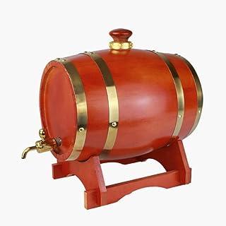 Tonneau de vin, Tonneau à vin en bois de chêne de 5L, fût, revêtement en acier inoxydable pour le stockage du whisky Wine ...