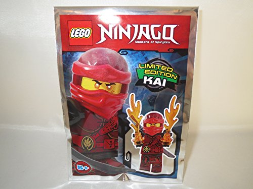 LEGO Ninjago - Ninja Figur Kai mit 2X Flammenkräften und Schwert - Limited Edition - 891729 - Polybag -
