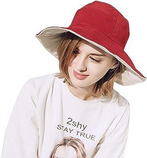 F.ZH UVカット帽子 レディース ハット リバーシブルハット サファリハット 日よけ帽子 紫外線対策 つばひろ 折りたたみ ワイヤーを加える 日焼け防止 熱中症予防 軽量 旅行用 日よけ 日射し 海 夏季 女優帽 小顔効果抜群