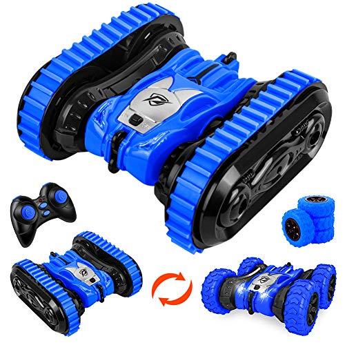 StillCool Ferngesteuertes Auto, 360° Remote Control Stunt Car Spur- und Radwechsel 4WD 2.4Ghz Auto Spielzeug Rennfahrzeug mit LED-Licht für Kinder über 6 Jahre