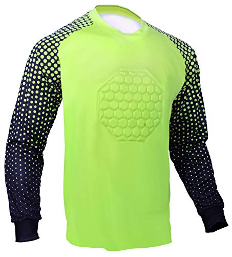 Soccer Goalie Shirt (Lime Green, Youth Large)