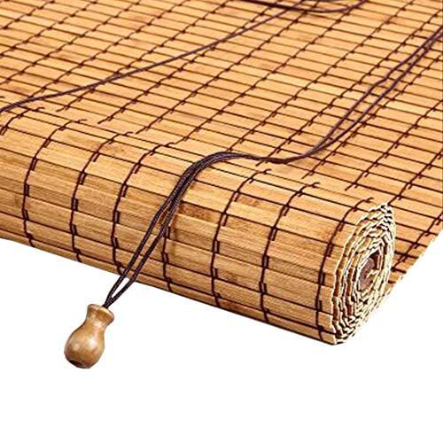 JIAYUAN bamboe rolgordijnen 98% hoge schaduw, bamboe rolgordijn, horizontale jaloezieën, verticale jaloezieën, voor balkon woonkamer studie Romeinse tinten