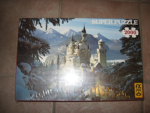 Super Puzzle Winter Wonderland Neuschwanstein, 2000 Pieces by F.X. Schmid