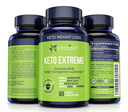 #1 Keto Weight Loss Supplement w BHB Salts of Magnesium, Calcium, Sodium - Best Ketogenic Fat Burner Diet Pills for Men & Women - Boosts Energy & Metabolism - Burns Fat Instead of Carbs - 60 Capsules