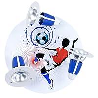 ElobraシーリングライトFuサッカーボールブルー/ホワイト