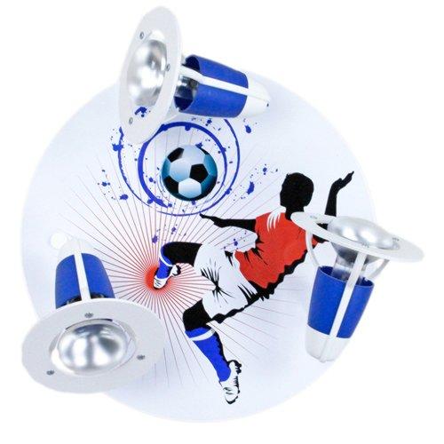 Elobra Deckenleuchte Fu�ball Soccer blau/wei�