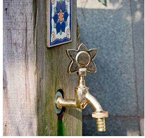 ZZXXWW Grifo de jardín Grifo de Lavabo Grifo de jardín al Aire Libre Forma de Animal Bibcock Verde/Grifo de latón Antiguo para Lavar la fregona/Grifo de riego de jardín para Animales