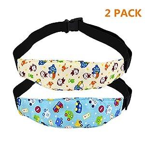 Surplex 2 pza Soporte Seguridad de la Cabeza para Bebe en el Coche, Soporte de Cabeza del Cochecito para Bebé Niños