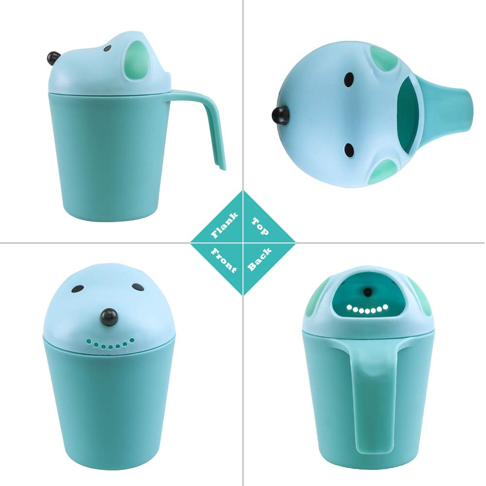 Topwon Baby Dippers Bath Rinse Cup Baby Bath Cup Shampoo Rinser Shampoo Rinse Cup Baby Bath Rinser Pail to Wash Hair and Wash Out Shampoo by Protecting Infant Eyes
