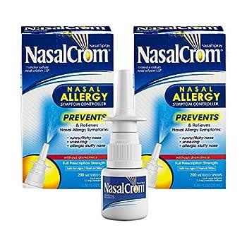 NasalCrom Nasal Spray Prevents and Relieves Nasal Allergy Symptoms Non-Drowsy 200 Sprays 0.88 FL OZ 1 Pack