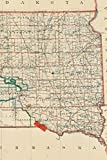 1892 Map of South Dakota - A Poetose Notebook / Journal / Diary (50 pages/25 sheets) (Poetose Notebooks)