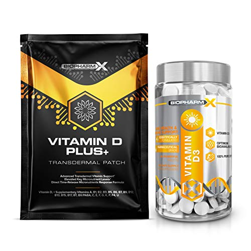 Vitamin D High Strength Tablets 4000iu + (1 Year Supply) 100% Pure Certified Vitamin D3 Cholecalciferol + 5 Free Premium 4000iu Vitamin D Patches