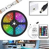UltraBright 1m / 2m / 3m / 4m / 5m Multicolor 12V IP20 5050 Hada Luz Tiras de RGB LED SMD (60LEDs/m) incl. 24 Teclas IR Mando a Distancia, Controlador (1 Metro)