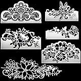 6 Pieces Metal Die Cuts Flower Cutting Dies Carbon Steel Stencil Template Bird Dragonfly Rose Stencils Embossing Die Cuts for DIY Crafts Scrapbook Album Paper Card Embossing