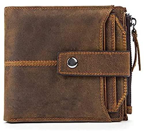 SWORD Brown RFID Blocking Genuine Leather Wallet for Men - Mens Leather Wallet