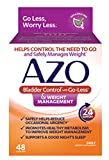 AZO Bladder Control with Go-Less & Weight Management Dietary Supplement | Helps Reduce Occasional Urgency* | Promotes Healthy Metabolism* | Supports a Good Nights Sleep* | 48 Capsules