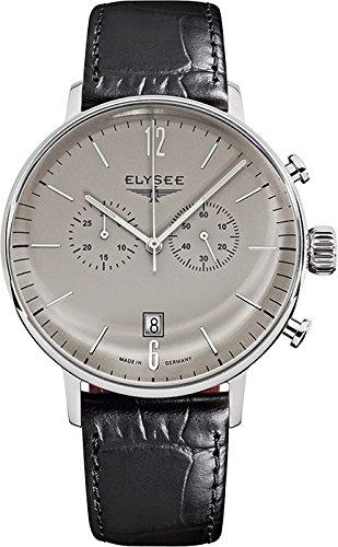 Elysee - Reloj de Pulsera Hombre, Piel, Color Negro