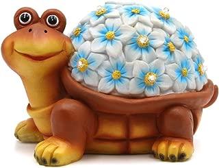 Petrala Solar Turtle Figurine Lights Garden Decor 9 LEDs Small Outdoor Lighting for Yard Patio