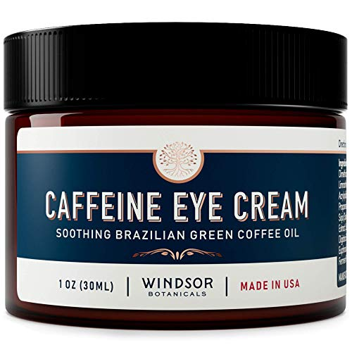 51KS7N3kpHL - Anti-Aging Caffeine Eye Cream - Windsor Botanicals Age-Defying AHA Formula - Moisturizes, Reduces Wrinkles, Dark Circles and Puffiness - With Soothing 100 Percent Pure Brazilian Green Coffee Oil - 1 oz