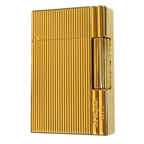 S.T.Dupont (エス・テー・デュポン) ガス ライター GATSBY ギャッツビー 18146 (旧型番18145) ゴールドプレート 金色 [正規品]
