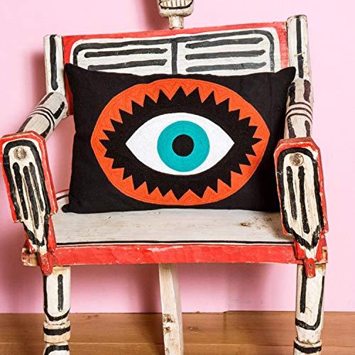 Kitsch Kitchen Embroidered Eye Cushion