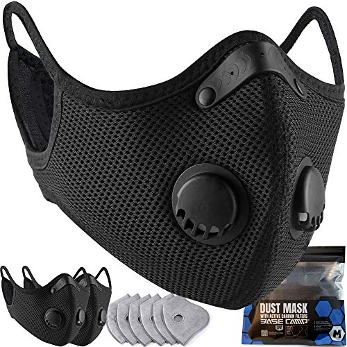 BASE CAMP M Plus Face Cover with Active Carbon Filter Combo Kit (3)
