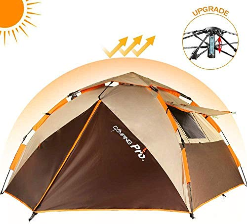 YAYY 2-3 personen Protable Dome Quick Up-tent automatische onmiddellijke tent voor kamperen, strand, hond wandelen, bergbeklimmen reizen (upgrade)
