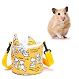 Pet Carrier Bag Hamster Portable Breathable Outgoing Bag,Bear Pattern Portable Adjustable Pet Hamster Cooling Carrier for Sugar Glider,Small Animals