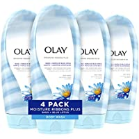 4-Pack Olay Moisture Ribbons Plus Shea + Blue Lotus Body Wash, 18 Fl Oz