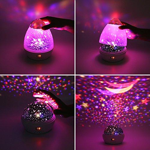 Lámpara Infantiles Proyector Estrella+Proyector LED+Timer Aut ...