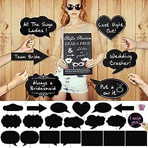 Pack 10 Bocadillos Photocall Con Frases Bodas